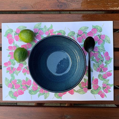 Tischsets Himbeeren aus Papier 24Stk.
