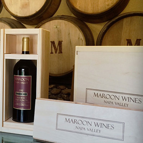 WOOD WINE BOX - FITS ONE MAGNUM BOTTLE (BOX ONLY)