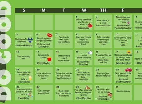 July 2020 Do Good Calendar