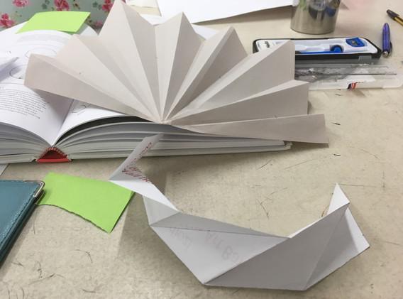 Paper prototype of pleats