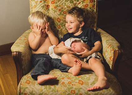 three kids baby
