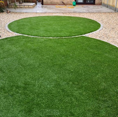 Artificial grass circles