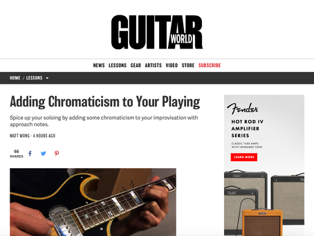 Adding Chromaticism to Your Playing