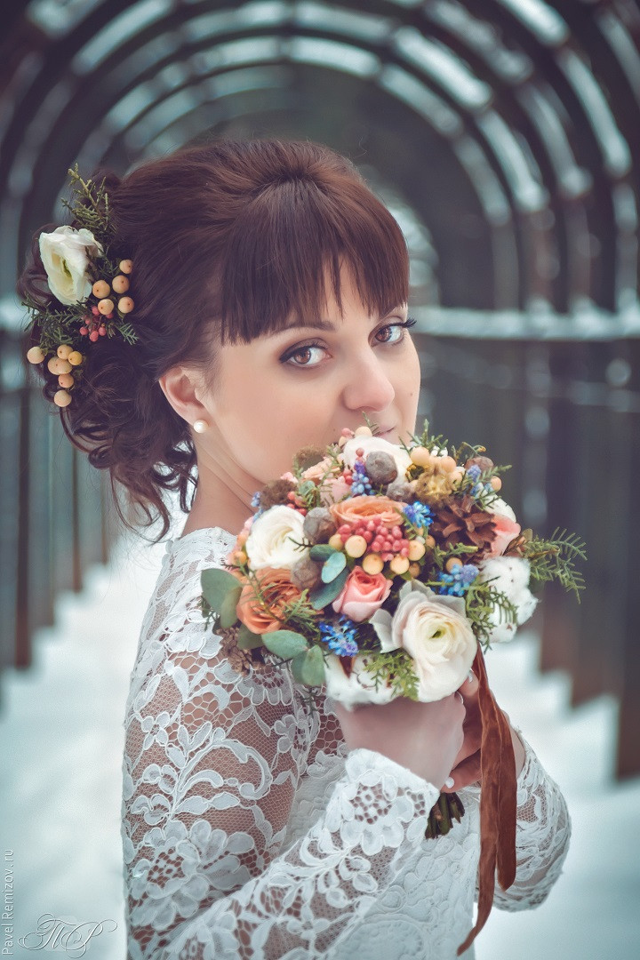 Свадебное фото, усадьба Архангельское, фотосессия зимой, фотограф Павел Ремизов