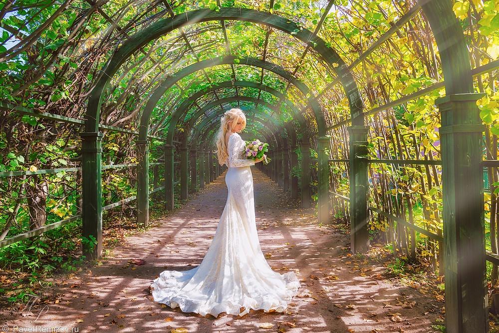 Свадебная фотосессия, Кусково, Москва, фотограф Павел Ремизов