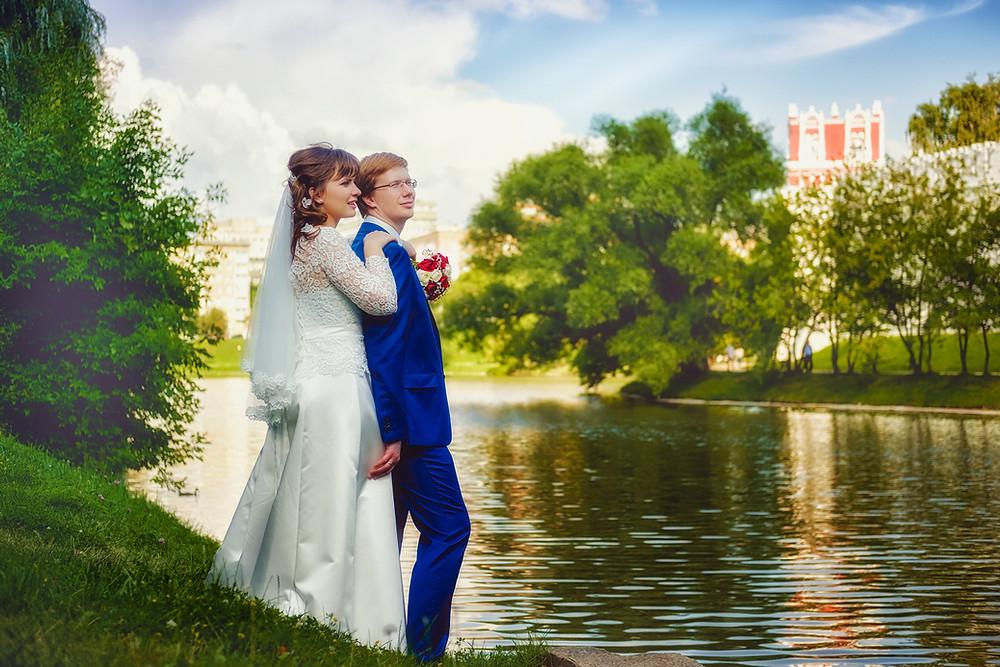 Свадебное фото, Новодевичий монастырь г. Москва, Свадебный фотограф Павел Ремизов