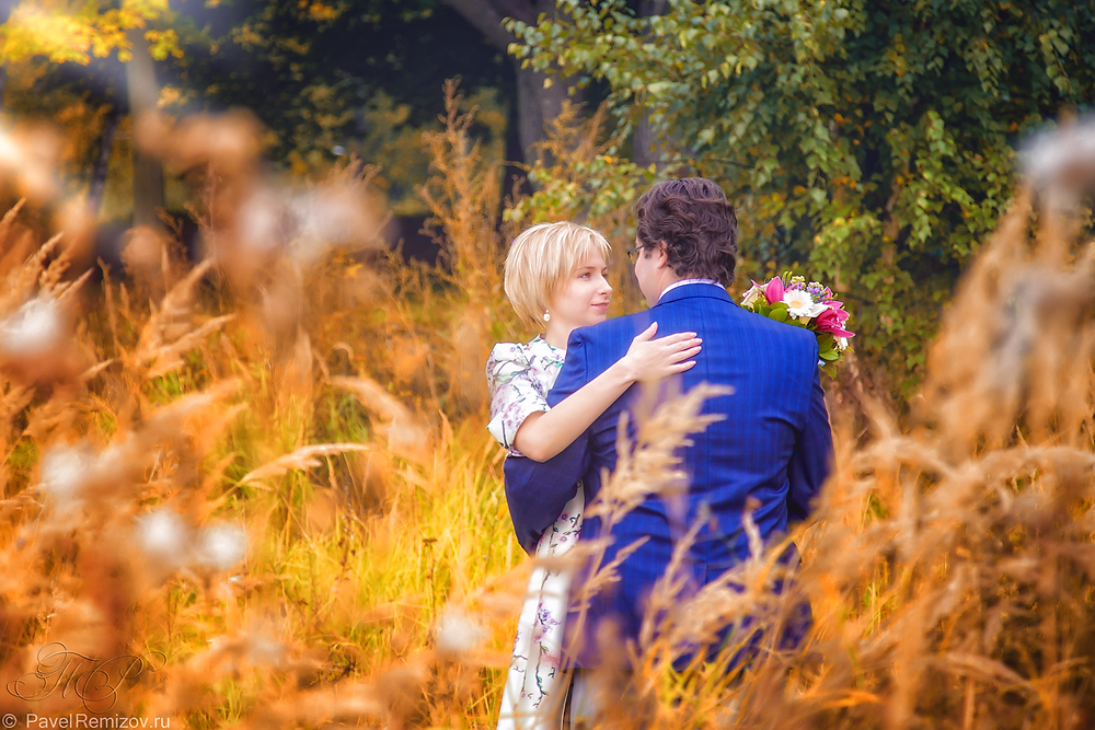 Свадебная фотосессия, осенью, Раменское, бабье лето, свадебный фотограф, Павел Ремизов