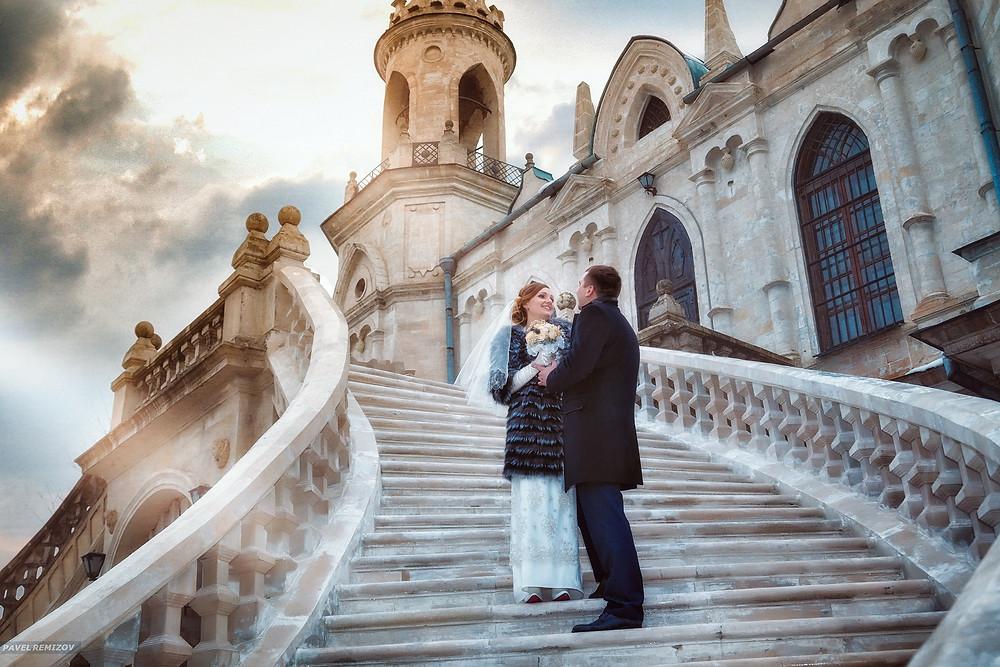 Свадьба зимой, фото, Жуковский, Церковь Владимирской Иконы, усадьба Быково, Свадебный фотограф Павел Ремизов