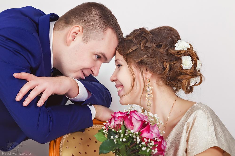 Свадебное фото в студии, Жуковский, зимняя фотосессия, Свадебный фотограф Павел Ремизов