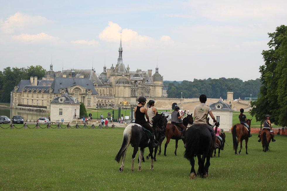 Examen ATE Stephane Lanfranca et Audrey Benoist château de Chantilly juin 2014.jpg