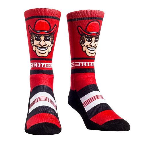 Huskers Game Face Socks