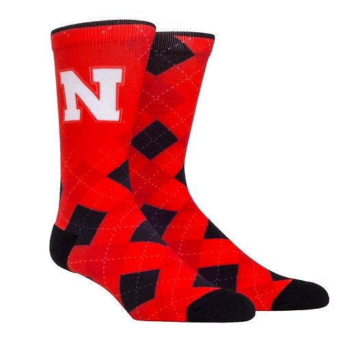 Huskers Argyle Socks