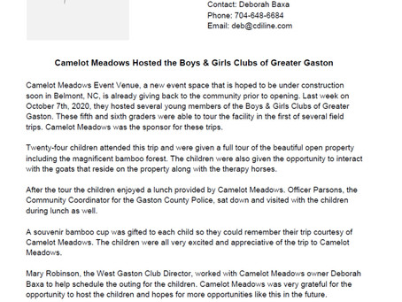 Reaching out to Boys & Girls Club of Greater Gaston