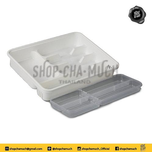 ถาดใส่อุปกรณ์ในครัว 2ชั้น KEYWAY 39.6x30.6x7.2 cm. KLE102