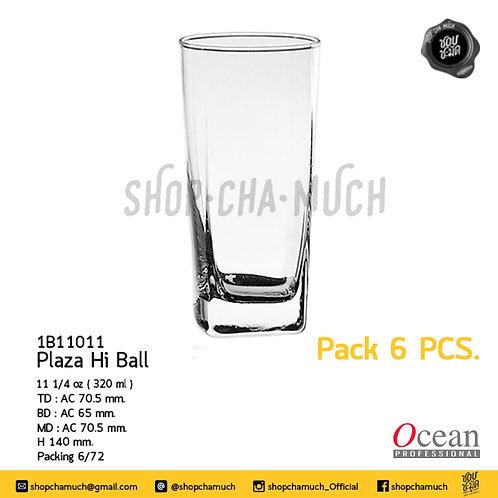 แก้ว PLAZA HI BALL 111⁄4oz. (320 ml) Pack 6 Ocean 1B11011