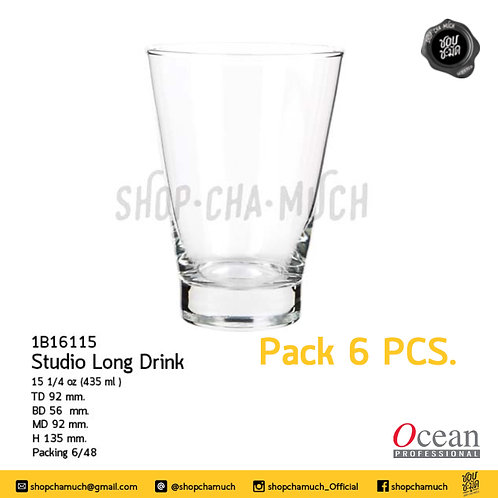 STUDIO LONG DRINK 15 1⁄4 oz (435 ml) Pack 6 Ocean 1B16115