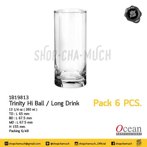 แก้ว TRINITY HI BALL 131⁄4oz. (380 ml) Pack 6 Ocean 1B19813