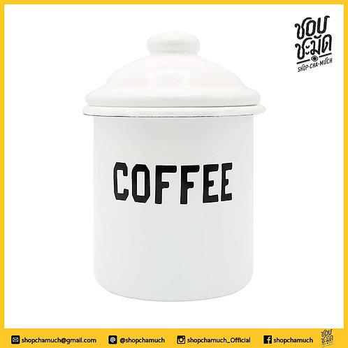 กระบอก COFFEE 10 ซม. มีฝาเคลือบสีEnamel 10ซม. ชอบชะมัด