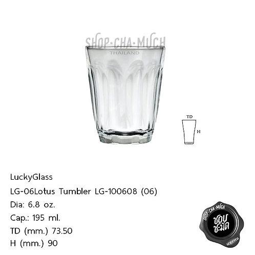 แก้วน้ำชา 6.8 oz.ลักกี้ LG100608(06) (1*12)