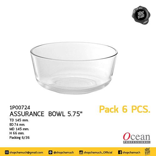 ชามแก้ว ASSURANCE BOWL 5.75 นิ้ว Pack 6 Ocean 6P00724