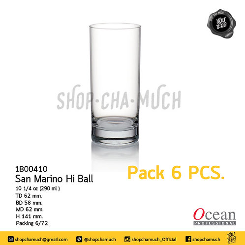San Mario Hi Ball 10 1/4 oz. (290 ml.) Ocean 1B00410