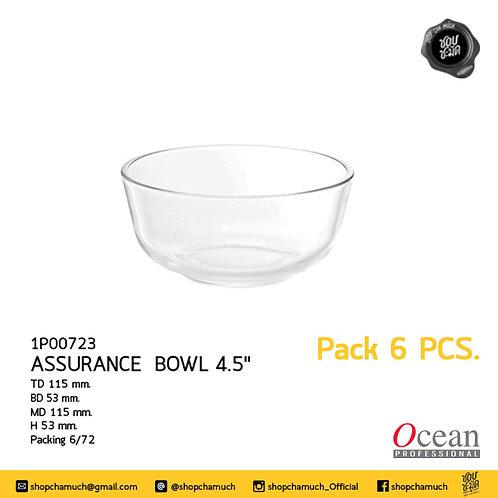 ชามแก้ว ASSURANCE BOWL 4.5 นิ้ว Pack 6 Ocean 6P00723