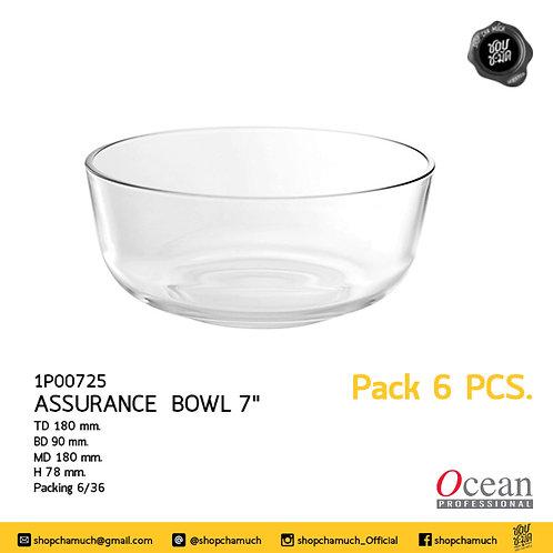 ชามแก้ว ASSURANCE BOWL 7 นิ้ว Pack 6 Ocean 6P00725