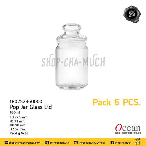 ขวดโหล POP JAR GLASS LID 650 ml Pack 6 Ocean 6B02523G0000