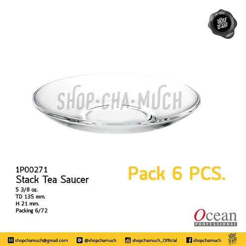 """จาน STACK TEA SAUCER 5.25""""  Ocean 1P00271"""