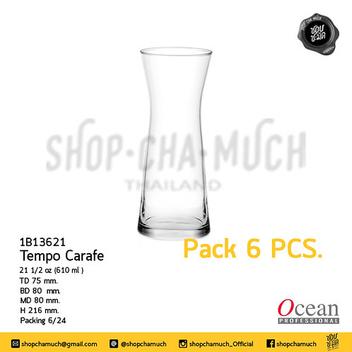 เหยือก TEMPO CARAFE 21 1⁄2 oz. (610 ml) Pack 6 Ocean 1B13621