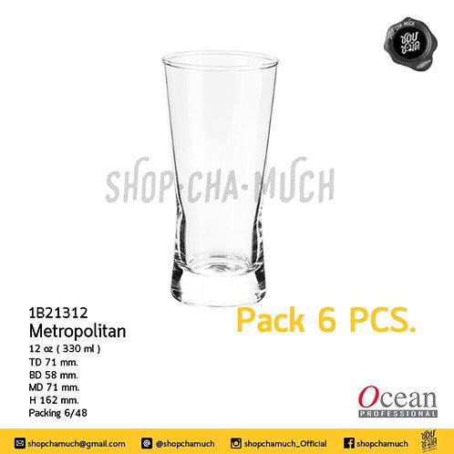 แก้ว METROPOLITAN 12 oz (330 ml) Pack 6 Ocean 1B21312