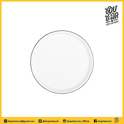 จาน แอฟฟินิตี้ 10 inch ขาวขอบดำ SCM1401WBL