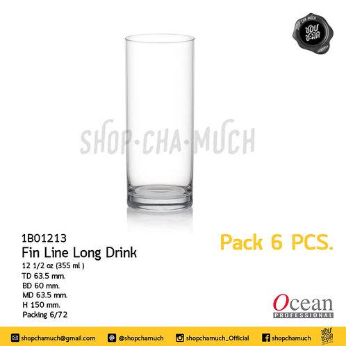 +++โปรดอ่าน+++Fin Line Long Drink12 1/2 oz. (355 ml.) Ocean 1B01213 Pack6