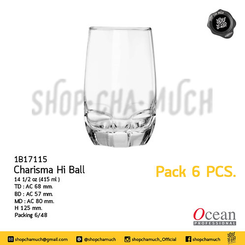 แก้ว CHARISMA HI BALL 14 1⁄2 oz. (415 ml) Pack 6 Ocean 1B17115