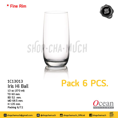 แก้ว IRIS HI BALL 13 oz. 370 ml. Pack 6 Ocean 1C13013