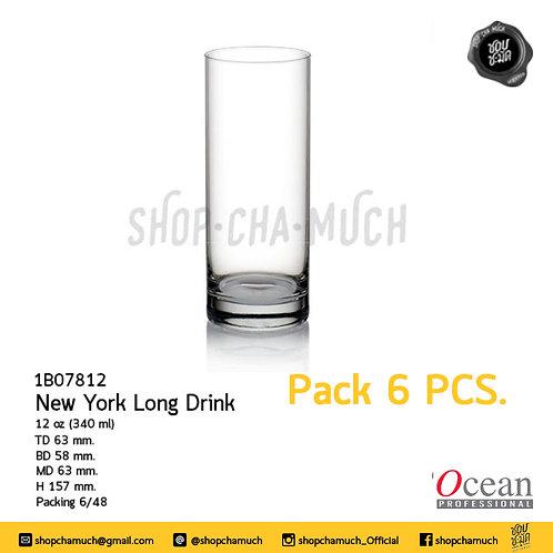 แก้ว NEW YORK HI BALL 12 oz. (340 ml) Pack 6 Ocean 1B07812