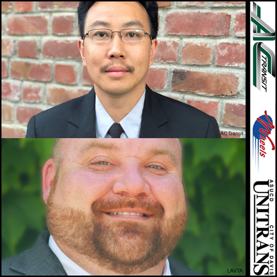 Congrats to William Wong Mah (AC Transit) and Jonathan Steketee (LAVTA), for their Mass Transit Hono