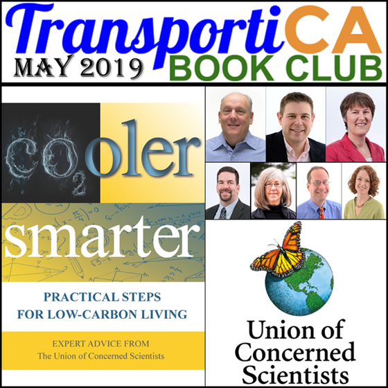"""Cooler Smarter: Practical Steps for Low-Carbon Living"" is TransportiCA's May 2019 Boo"