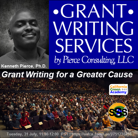 "Dr. Kenneth Pierce is July's Presenter for the Nonprofit Sector Speaker Series: ""Grant Writ"