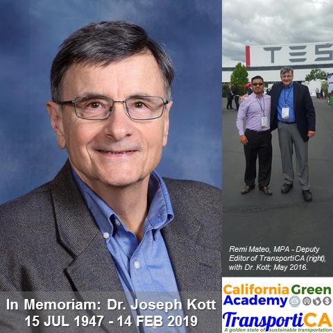 CalGreen's Statement on the Passing of Dr. Joseph Kott -  Decorated Transport Scholar, Planner,