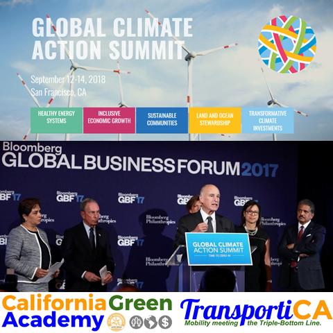 CalGreen and TransportiCA invited as Media Partners to the historic Global Climate Action Summit