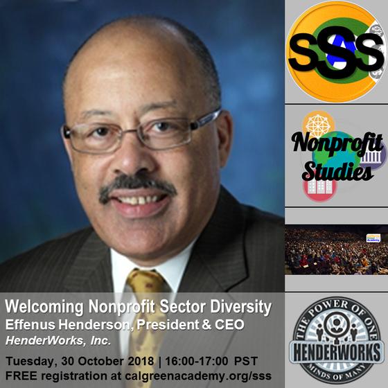 "Effenus Henderson, International Diversity Expert, is October's ""Sector Speaker Series&quot"