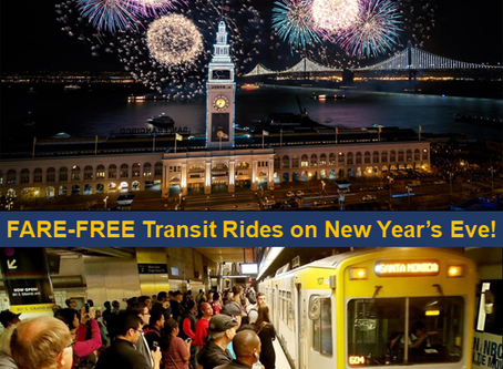 Fare-Free Transit Rides on New Year's Eve!