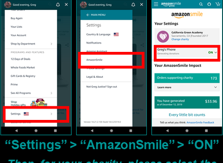 Support CalGreen, now with Android's Amazon Shopping App!