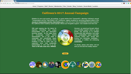 Donate to CalGreen's 1st Annual Campaign, helping us earn $10,000 for our important work!
