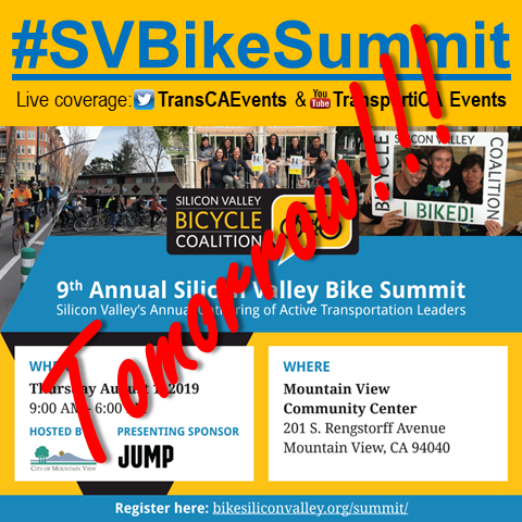 Catch Live-Streaming of the 9th Annual #SVBikeSummit, Tomorrow (01 Aug)!