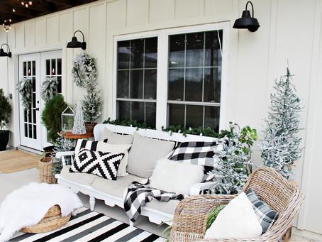 Neutral Christmas Porch