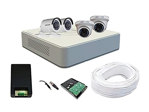 HIKVISION 4 CHANNEL DVR & CAMERA KIT