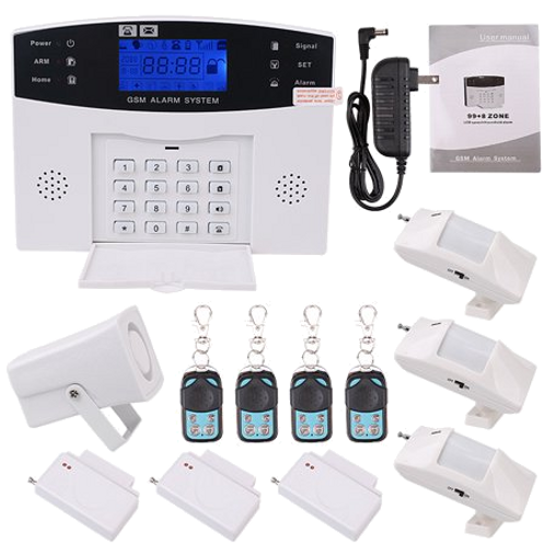 Wireless LCD GSM SMS Burglar  Alarm System Auto Dialer Home Security Safe