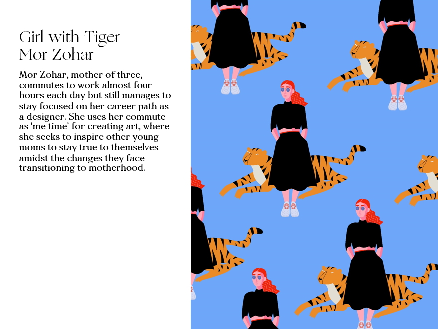Girl with Tiger by Mor Zohar